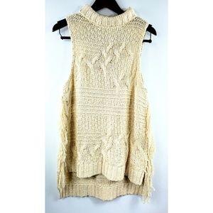 Free People cowl neck sleeveless hi/low sweater S